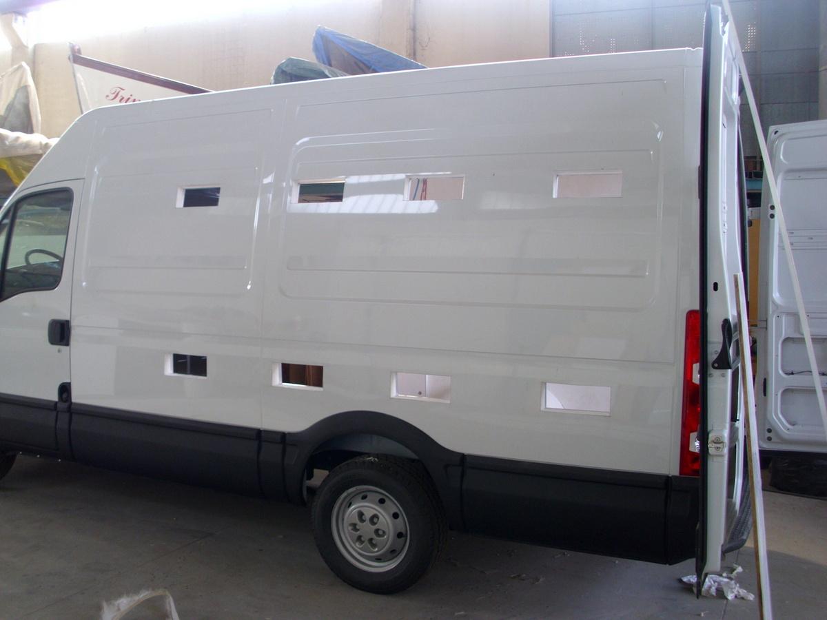Allestimento furgone con impianto di areazione